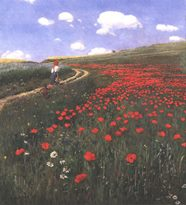 [Szinyei M. P.: Meadow with poppies]