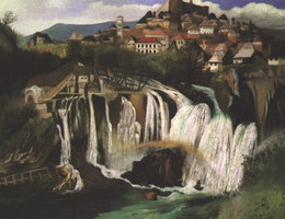 [Csontvary Kosztka, T. : Waterfall in Jajce]
